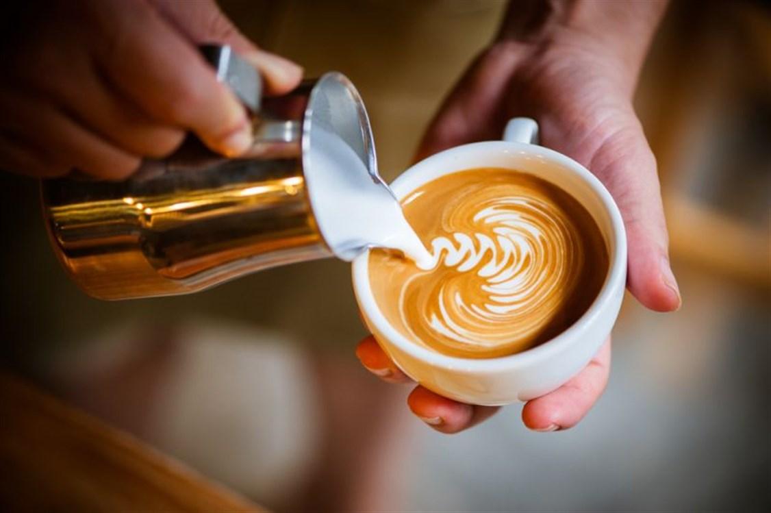 القهوة بالحليب